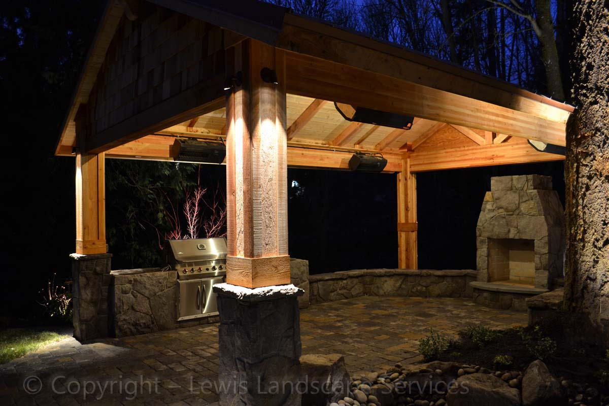 Lewis landscape services outdoor living spaces portland for Outdoor living spaces images