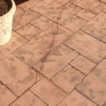 stamped concrete crack