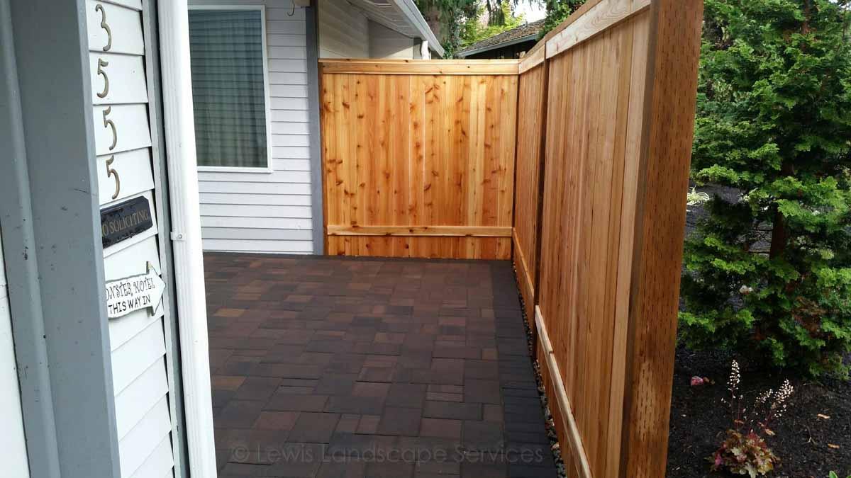 Solid Style Cedar Fence we built in Beaverton, Oregon - fence builders
