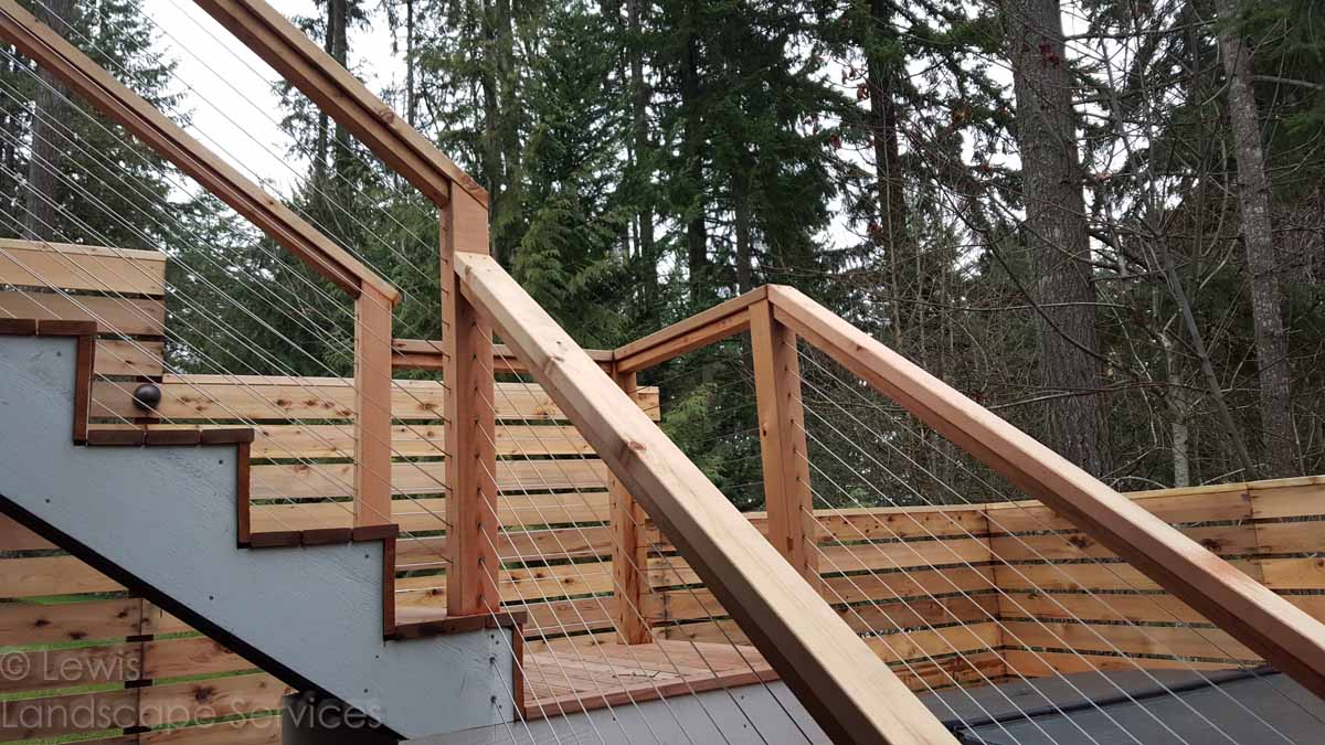 Cable Railing Installed at one of our jobs in Tigard, Oregon