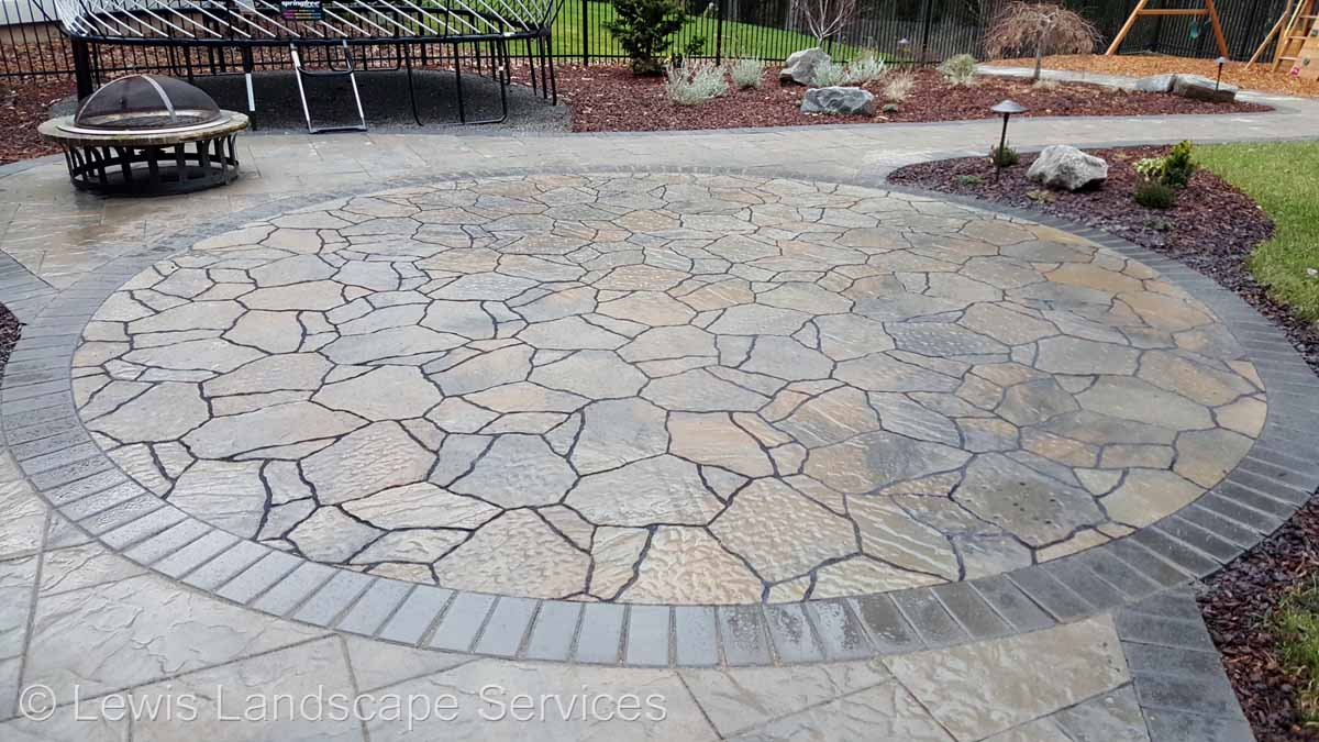 Closeup Paver Patio / Fire Pit Area