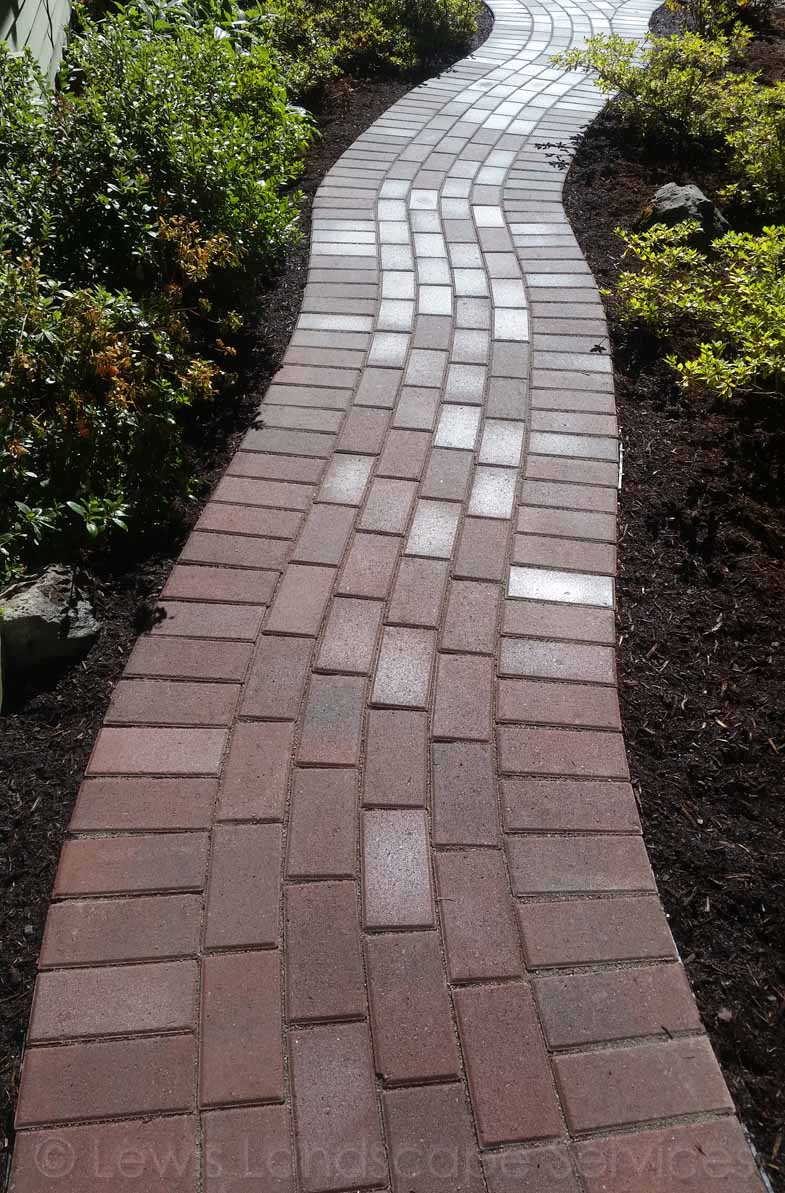 Clay Brick Paver Pathway