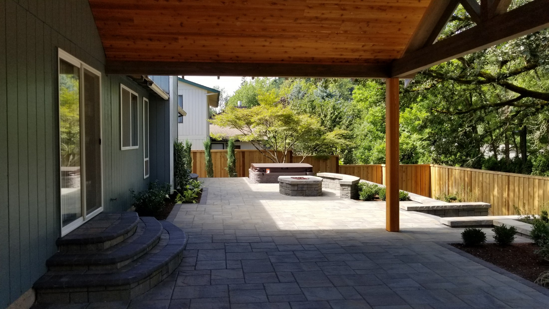 Paver Patio, New Covered Structure