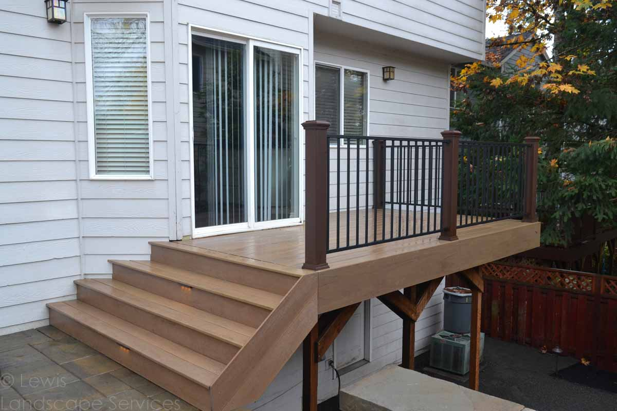 New Timber Tech Deck & Iron Railing