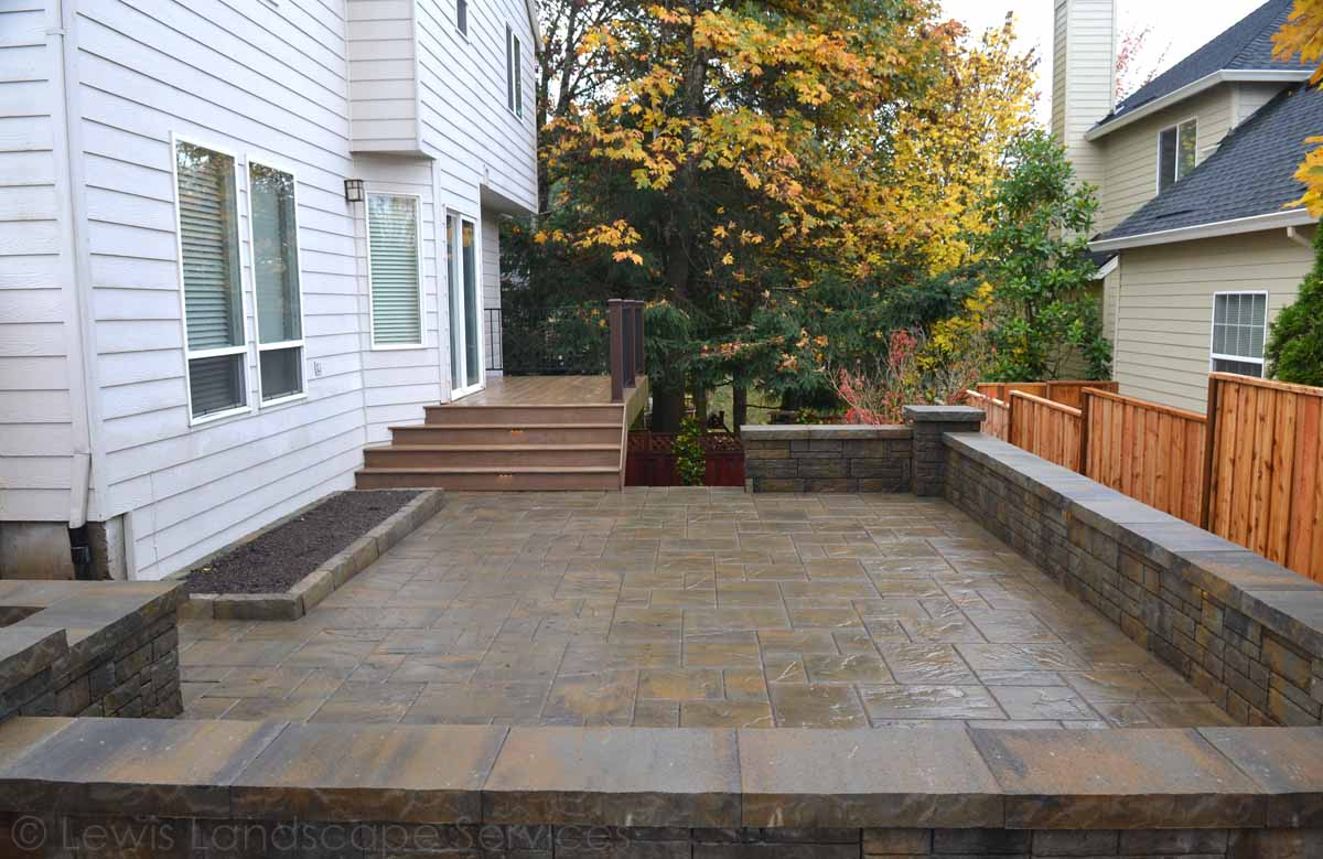 Paver Patio, Seat Wall, Herb Garden Area