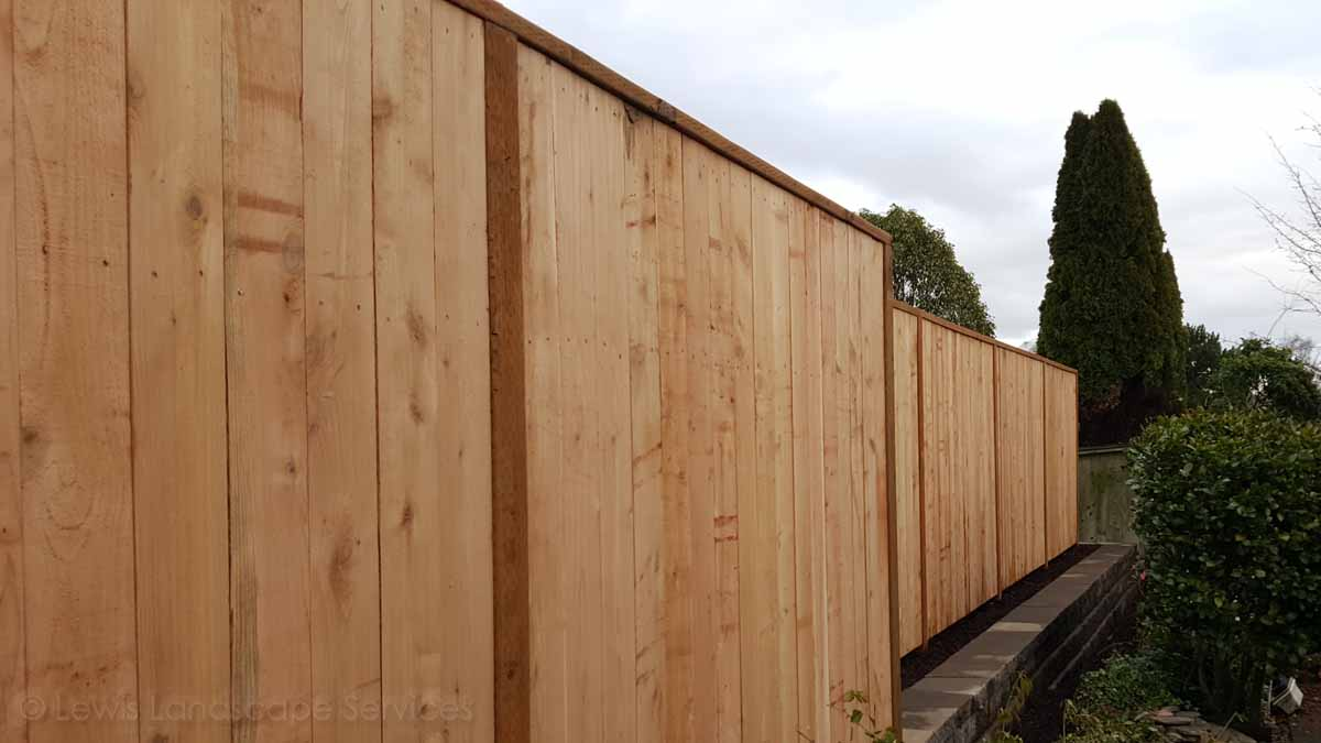 Solid Style Cedar Fence Installation we did in King City / Tigard Oregon area - fence installers