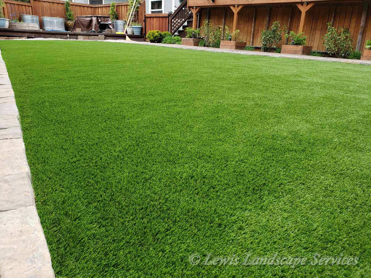 Close-up of Synthetic Turf Installation