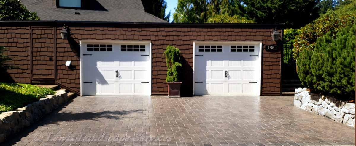 Paver Driveway We Installed in Vista Area of SW Portland Oregon