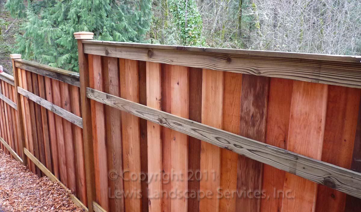 Shadow Box Style Fence we installed in Portland Oregon - Fence Builder