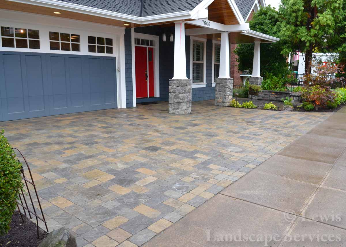 Paver Driveway We Installed in SW Portland