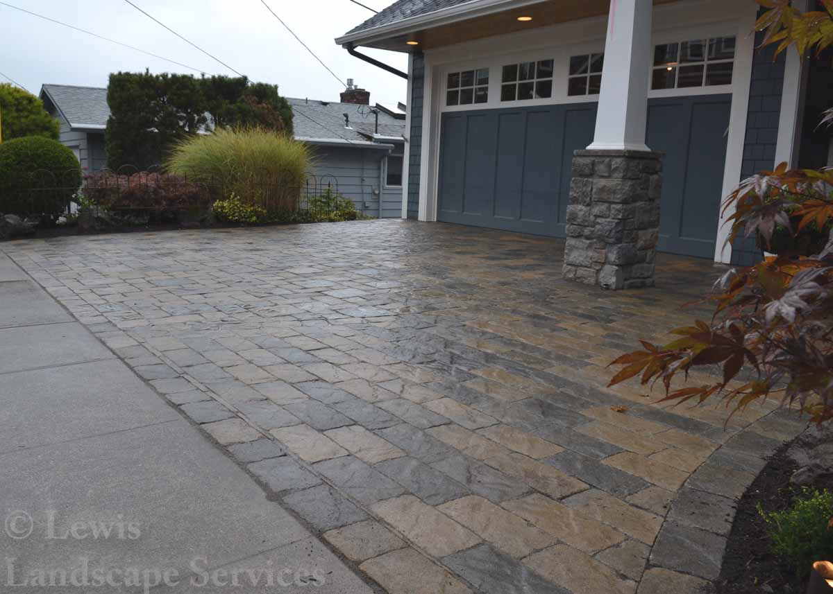 Paver Driveway We Installed in SW Portland Oregon