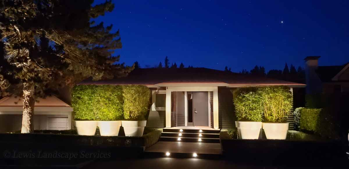 Outdoor Lighting Project we did in Lake Oswego