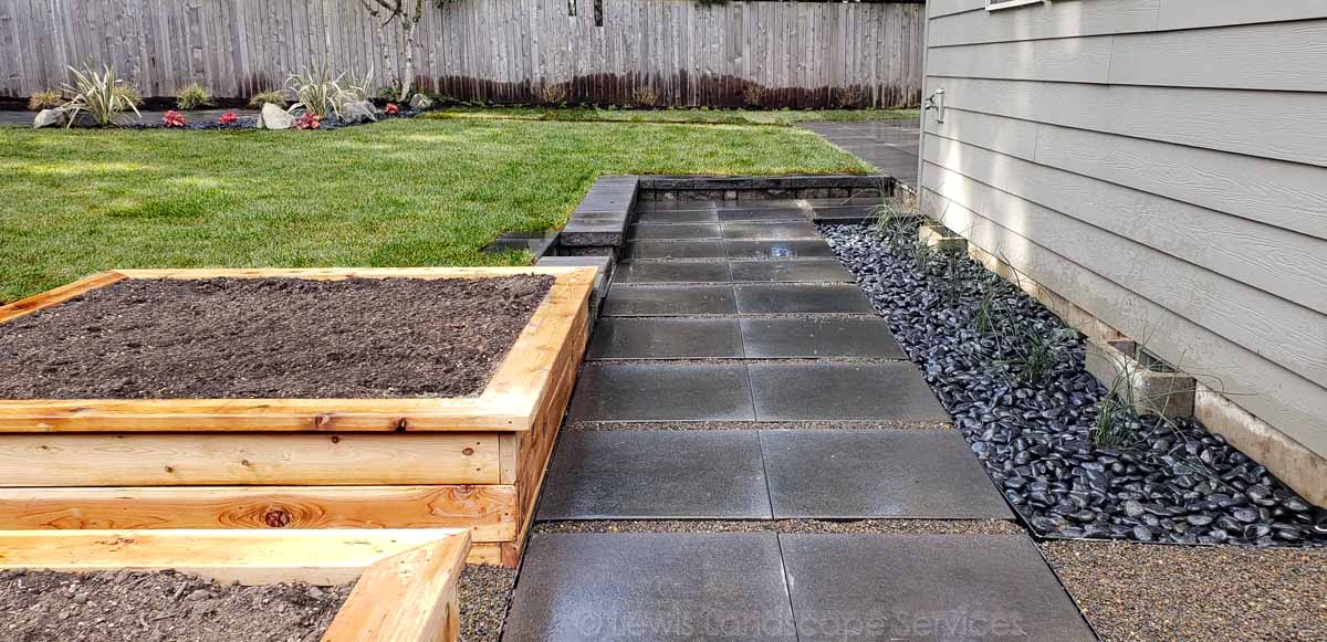 Concrete Paver Pathway We Installed in Tigard, OR