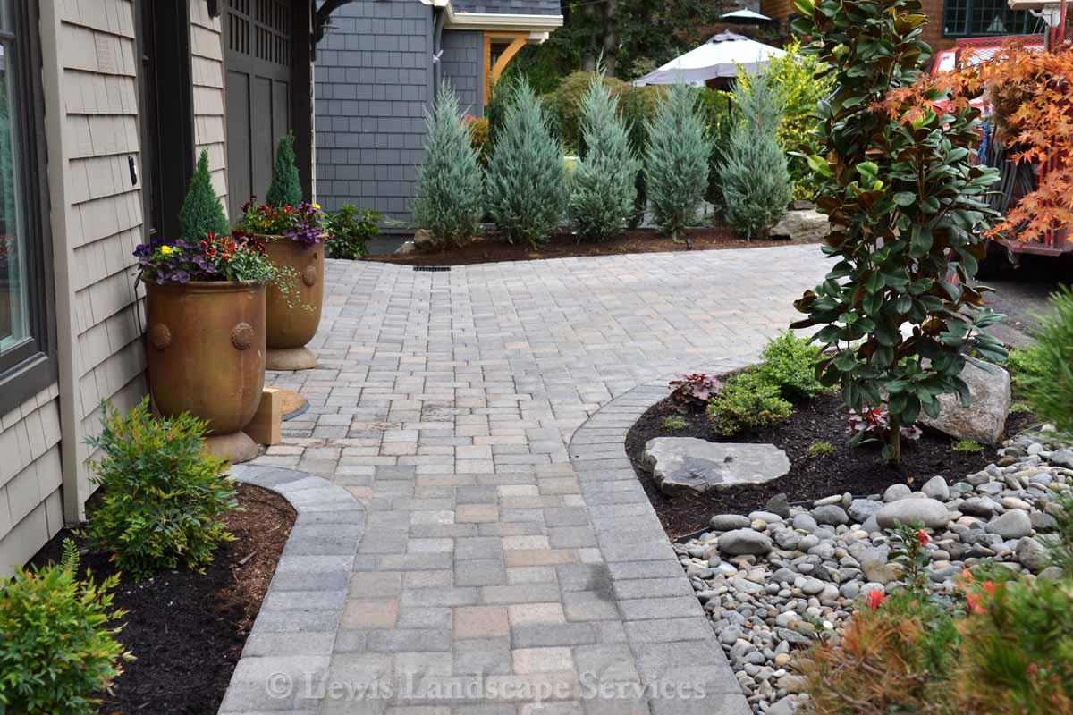 Front Yard - Paver Driveway & Pathway, Planting