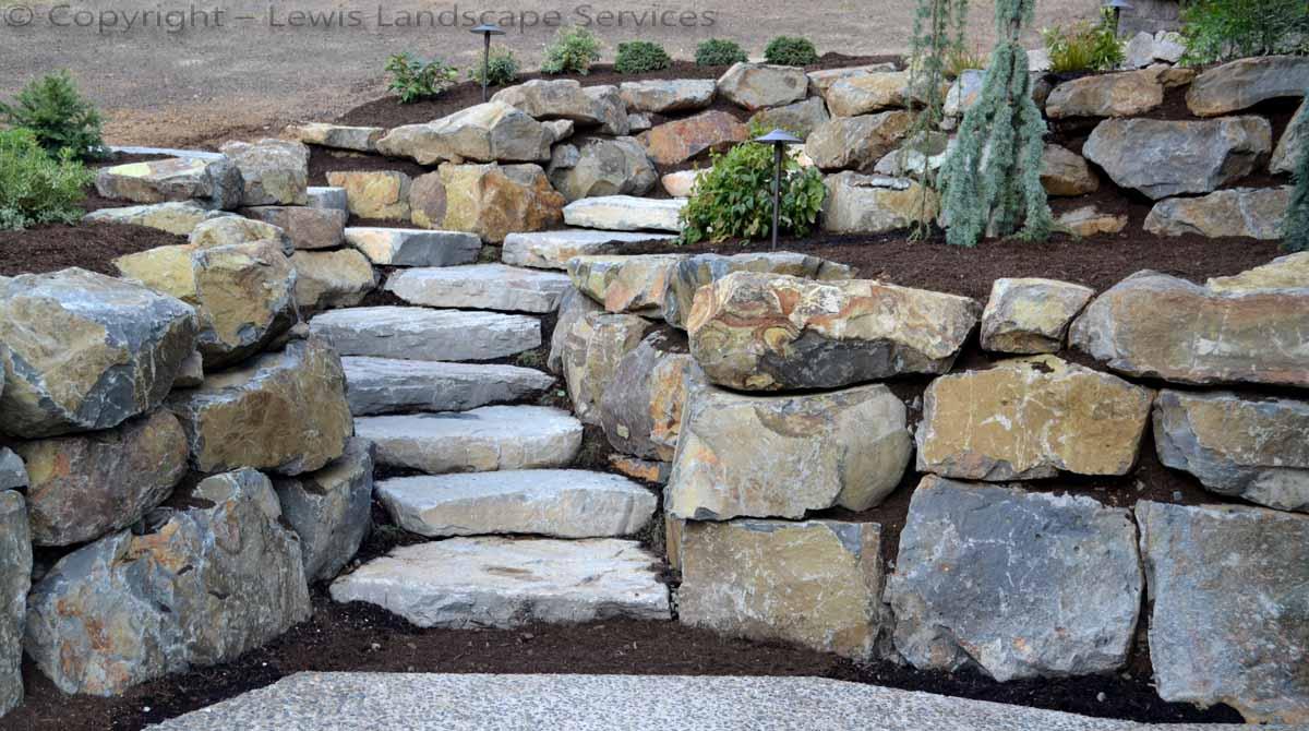 Lewis Landscape Services Rock Walls Portland Oregon