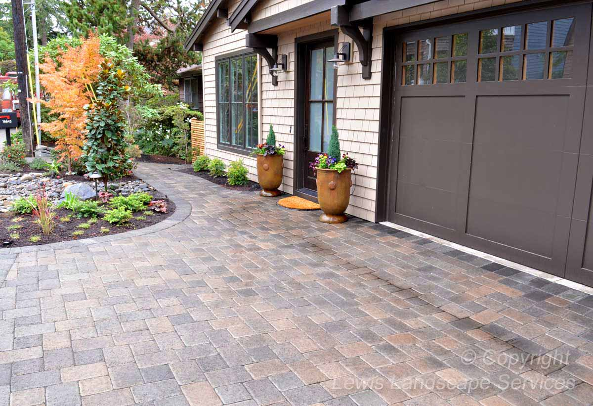 Front Yard - Paver Driveway & Pathway, Planting