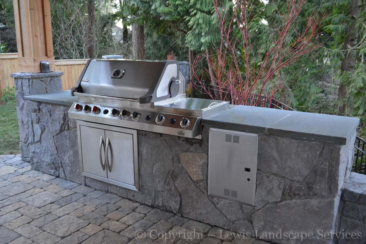 BBQ Grill, Doors, Stone Countertops