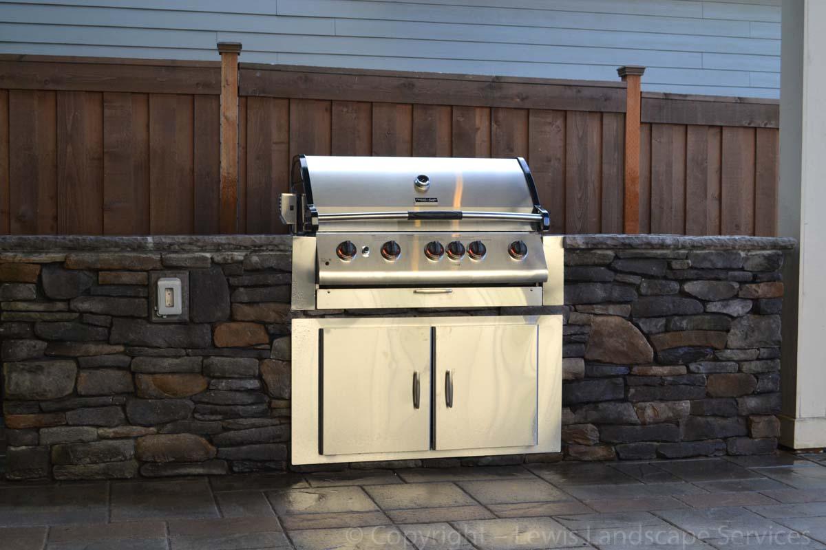 BBQ Grill, Doors, Concrete Countertops