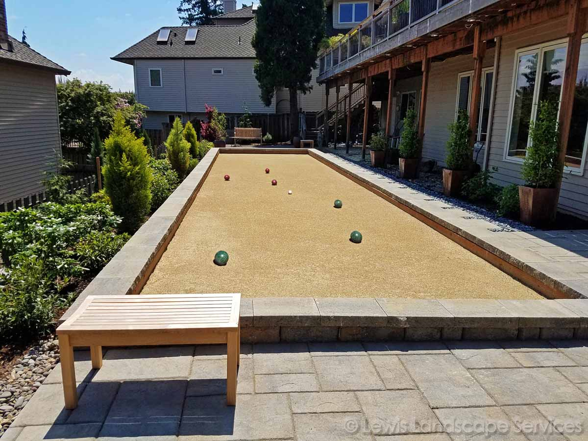 Paver Patio, Bocce Ball Court