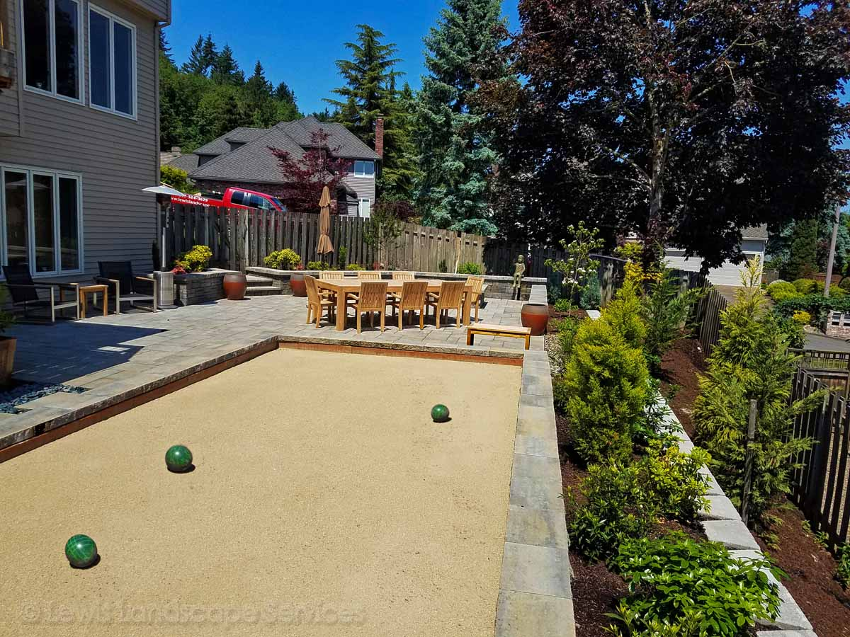 Bocce Ball Court (Paver Patio in Background)