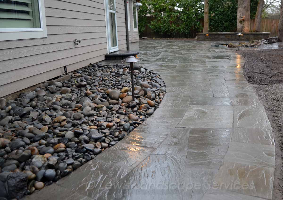 Walkway & Patio Made with Stone Pavers by Marshall's