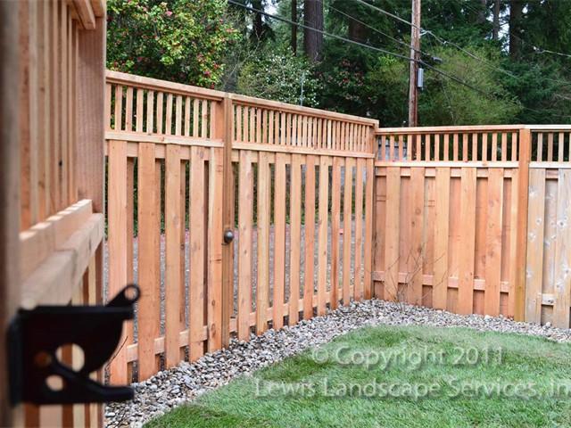 Cedar Rail Top Fence