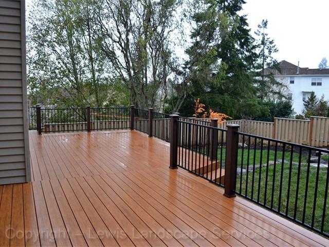 TimberTech Deck with Iron Railing