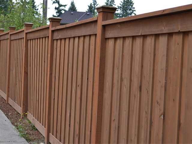 Picture Frame Style Cedar Fence