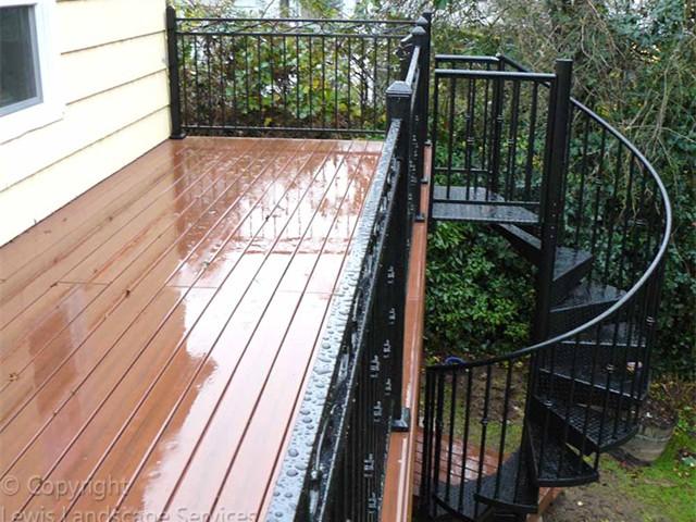 TimberTech Deck & Iron Railing