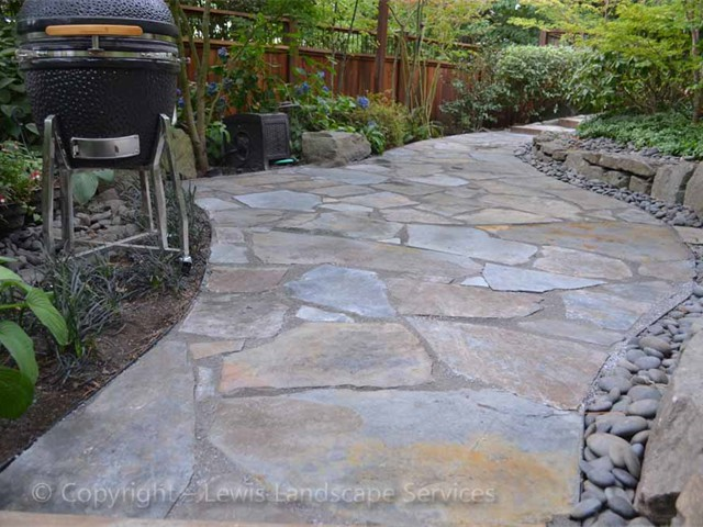 Stone Slate For Backyard lewis landscape services beaverton oregon - flagstone / slate patios
