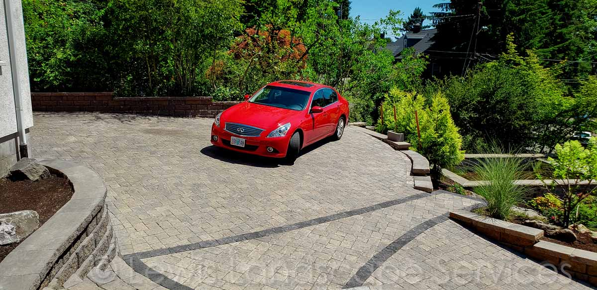 Paver Driveway We Installed in Vista Area - SW Portland