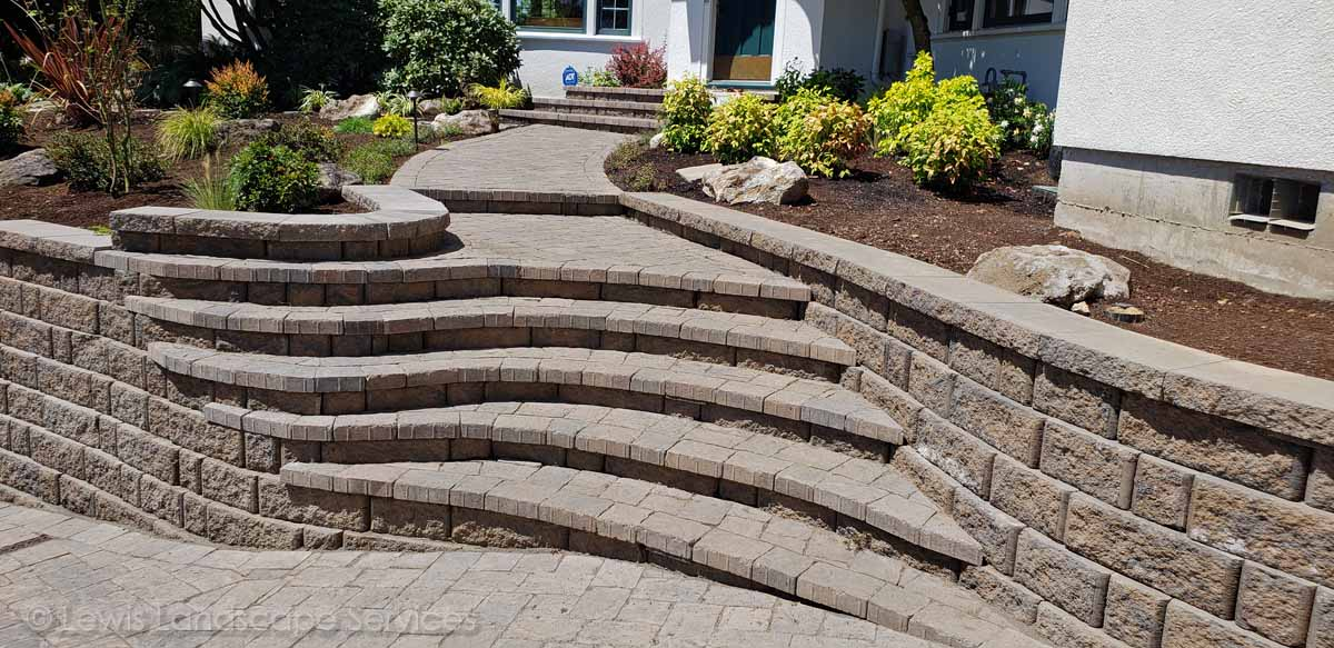 Paver Steps to Front Door