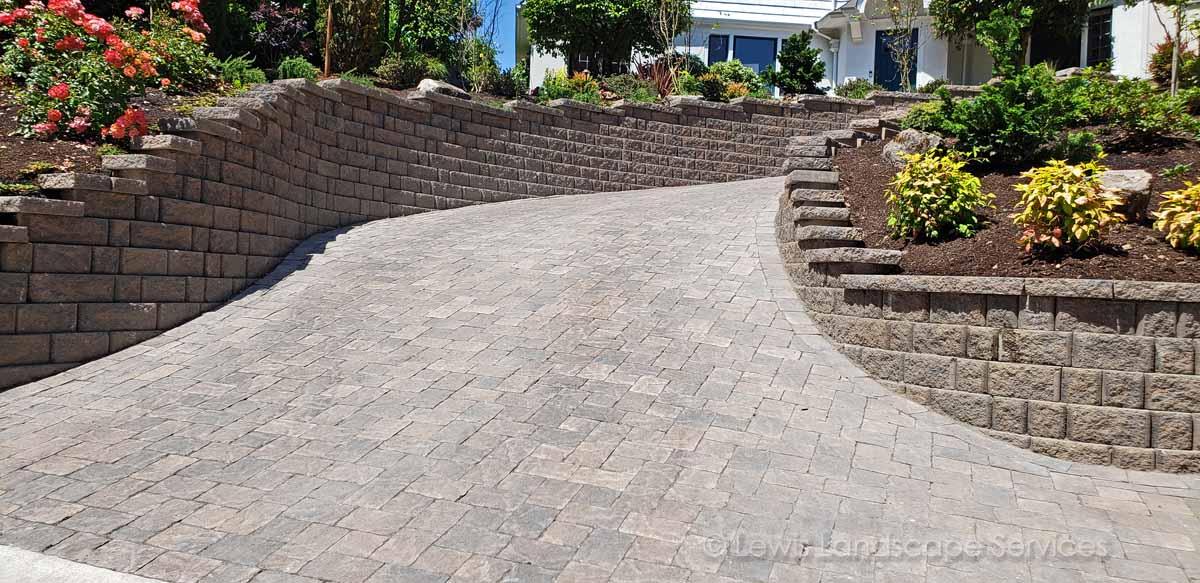 Paver Driveway We Installed in Vista Area - SW Portland