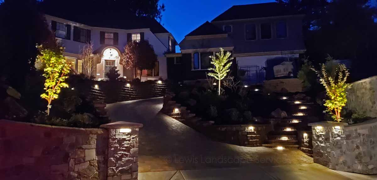 Same Project, with Night Lighting We Installed