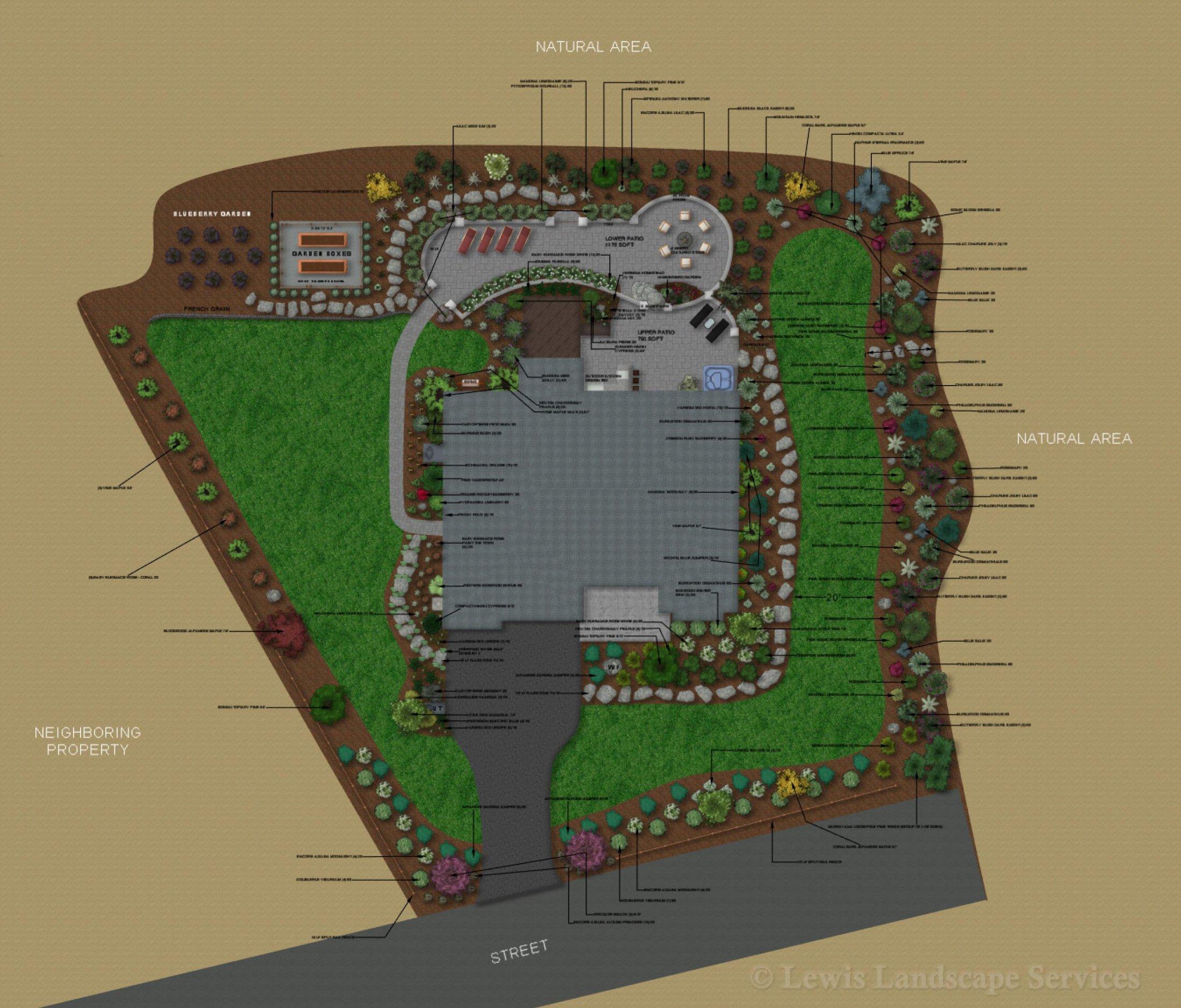 Landscape Design - Plan View
