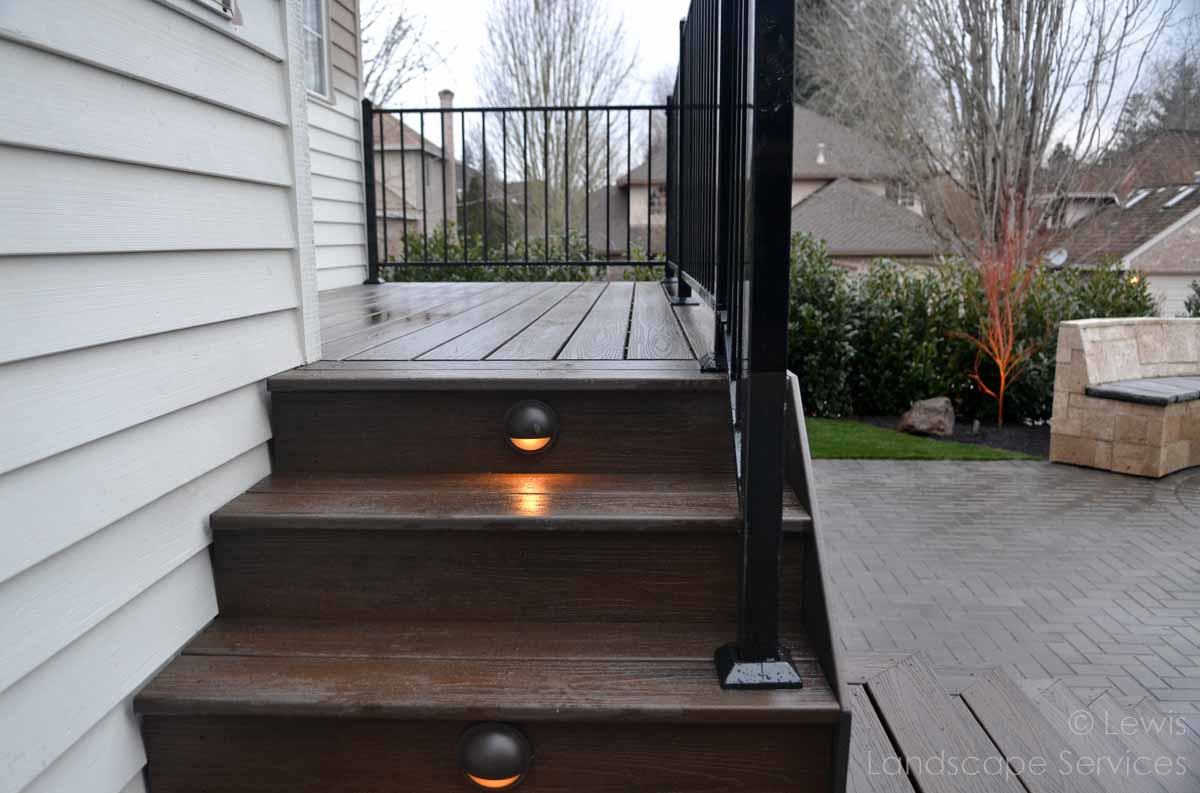 Close-up Detail of Synthetic Decking - Timbertech