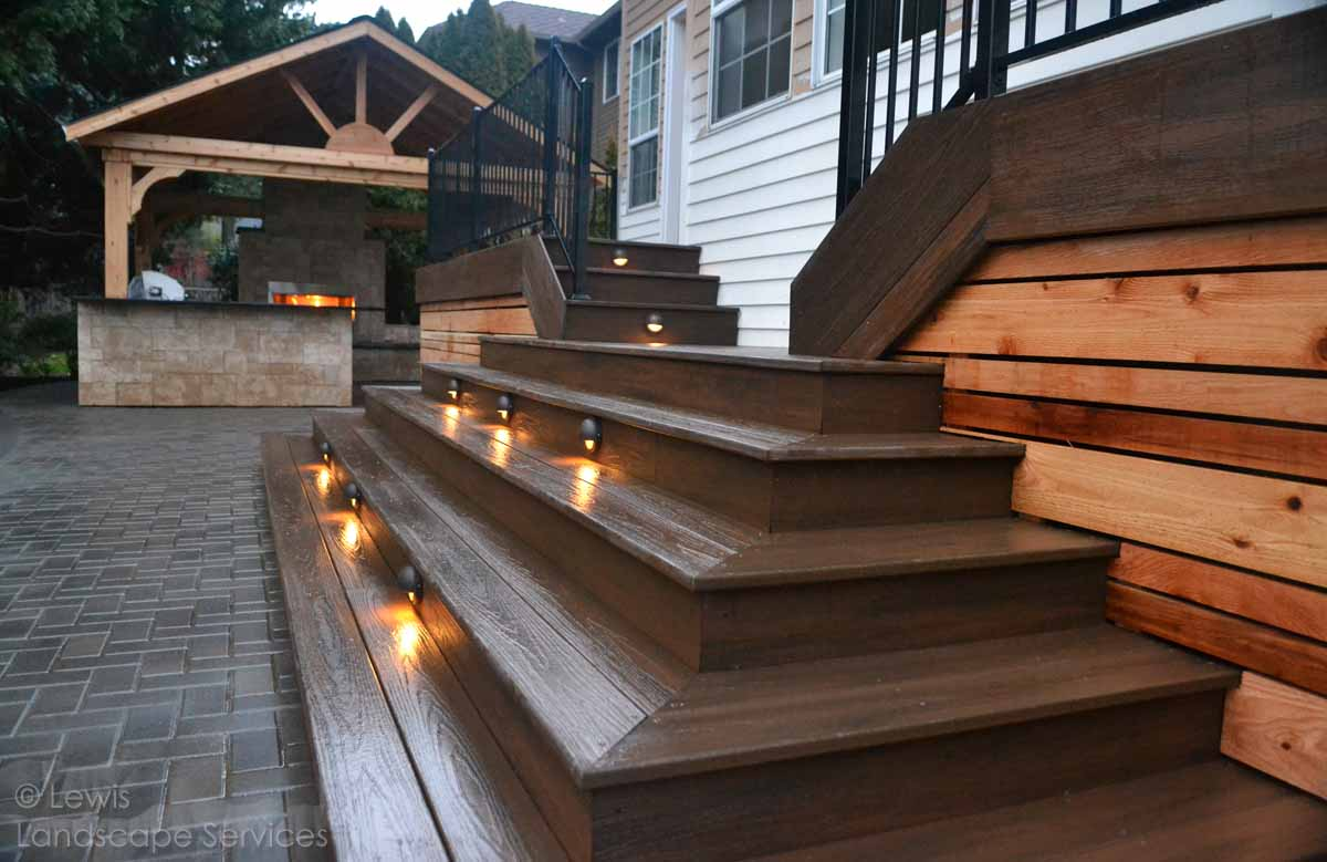 Paver Patio, Deck, Lighting, Covered Structure
