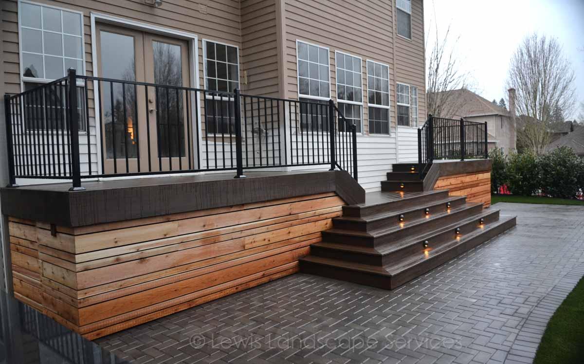 TimberTech Deck (with cedar screening underneath deck) we built in Tualatin, OR