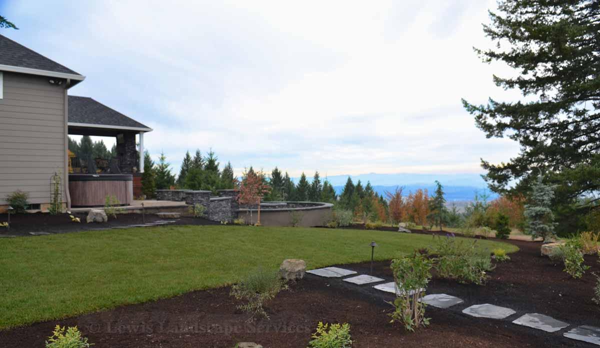 Side Yard Sod Lawn & Landscape