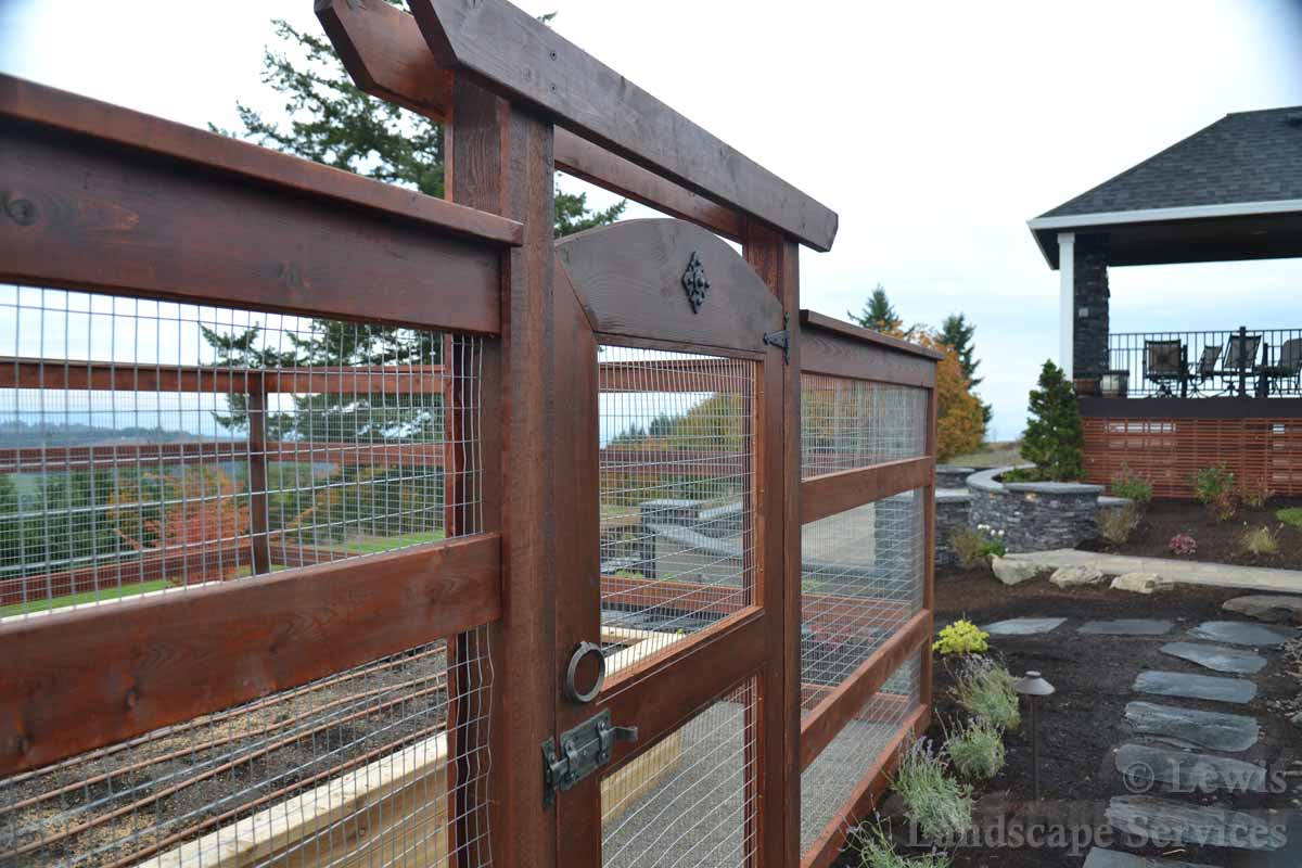 Close-up of Gate & Protective Fencing from Hillsboro OR job in last photo