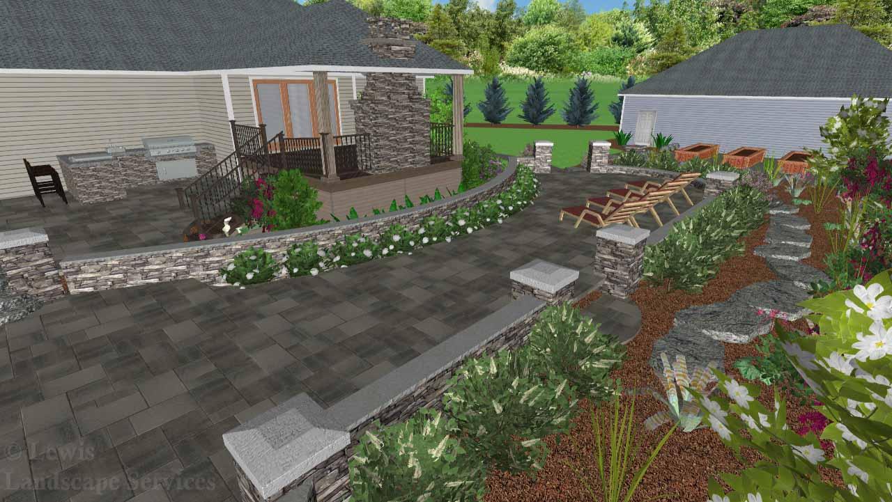 Landscape Design - Perspective View 3