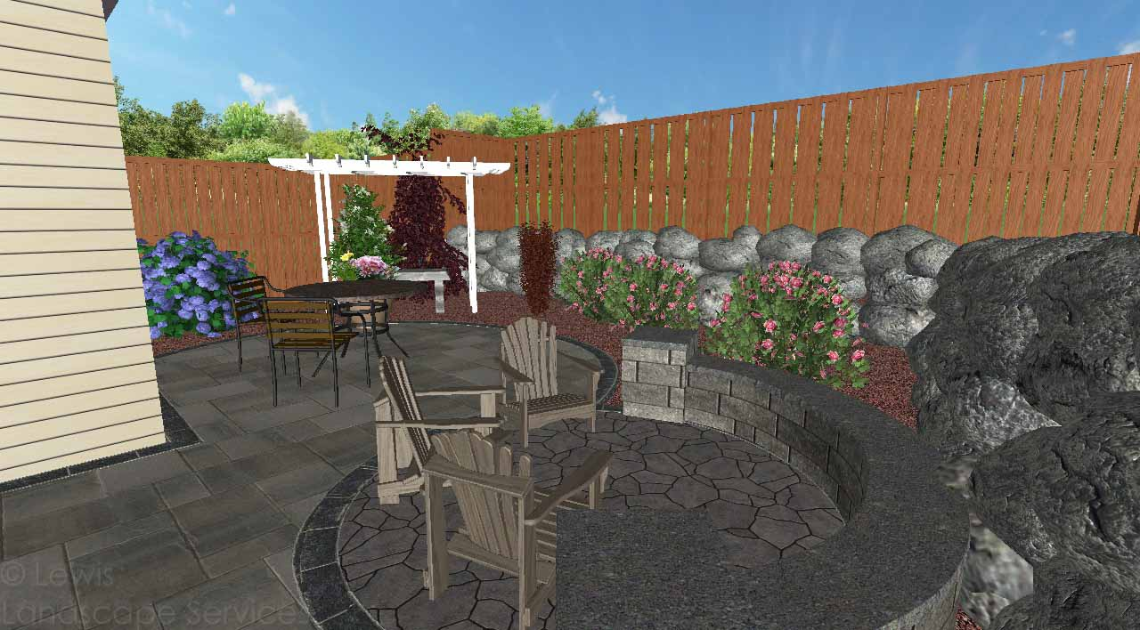 3D View of Landscape Design for Job we completed in Spring of 2019 in Hillsboro