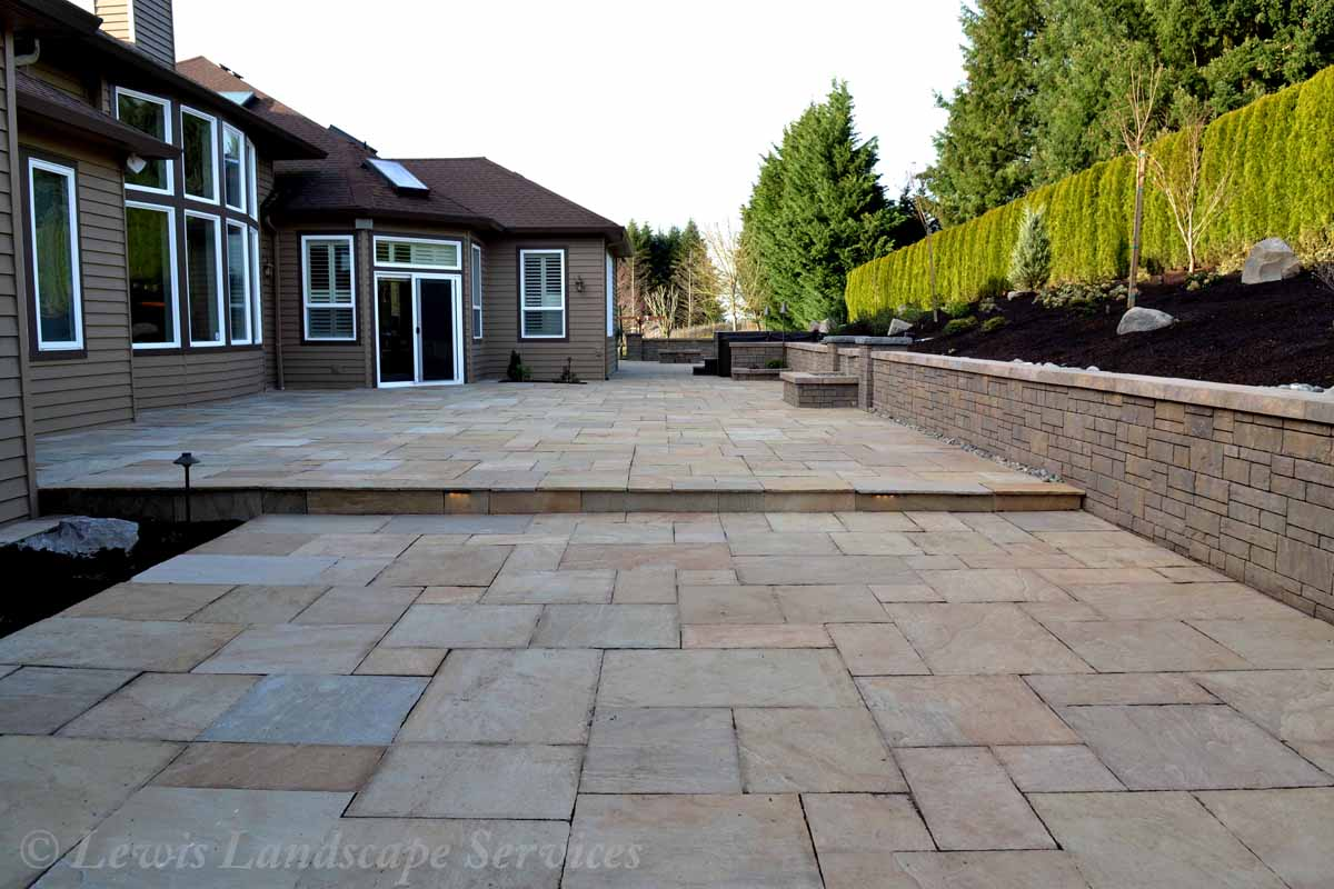 Patio Made with Stone Pavers by Marshall's
