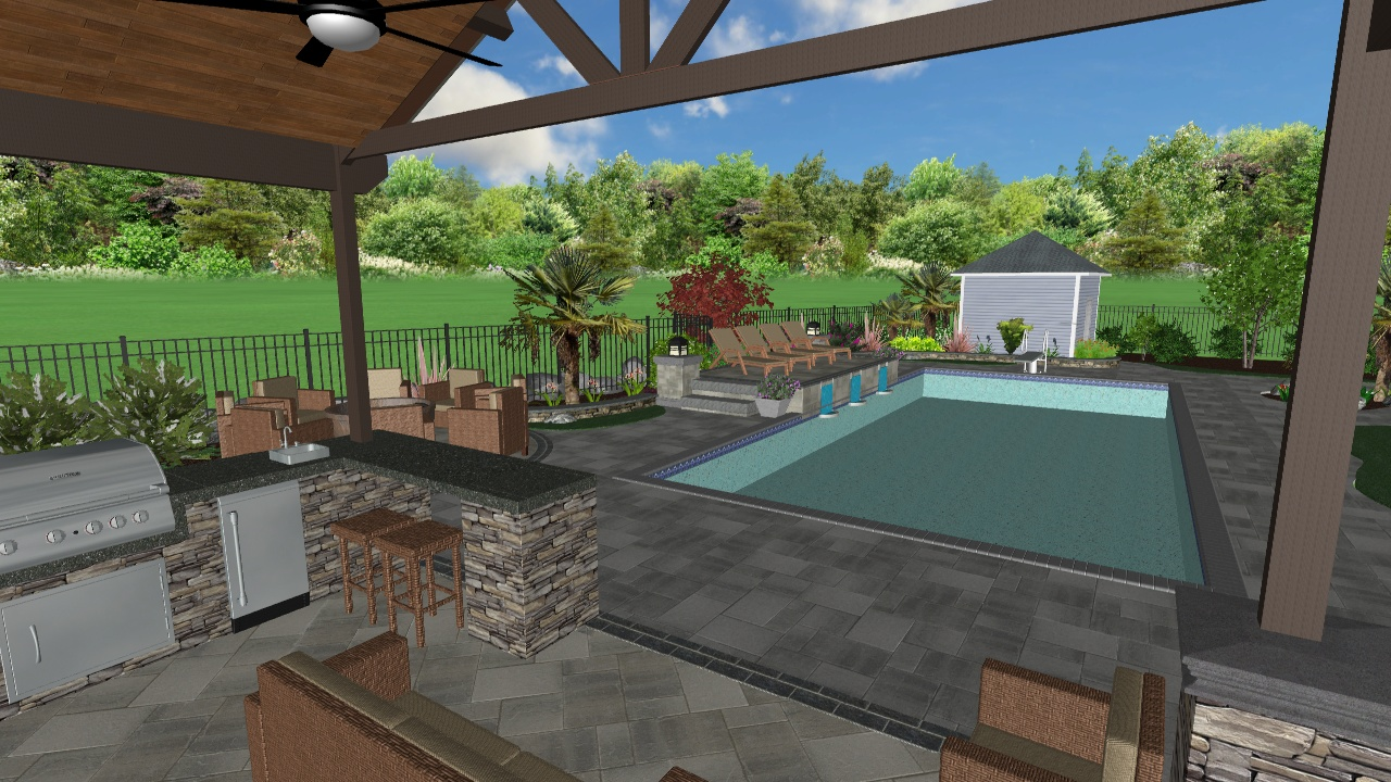 3D Landscape Design from Project Currently Under Construction in Beaverton, OR 2019/2020