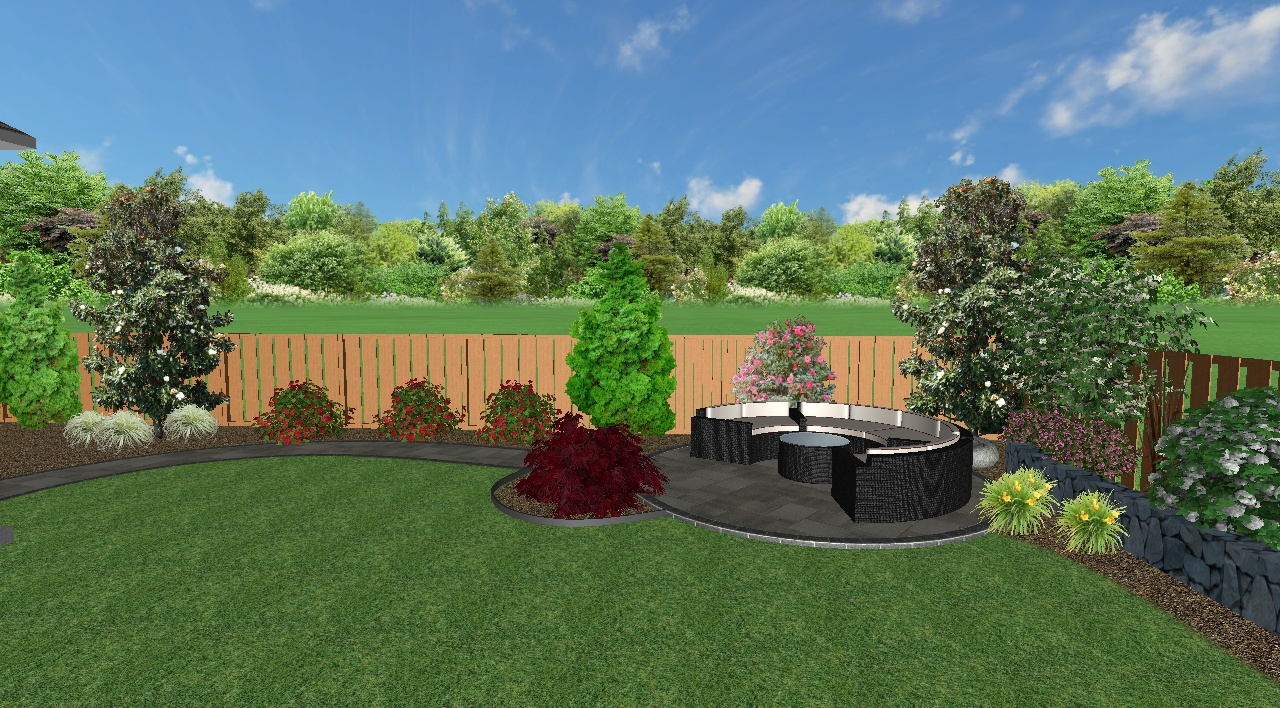 3D View of Landscape Design (Back Yard) for Job we completed in Feb. 2019 in Wilsonville, OR