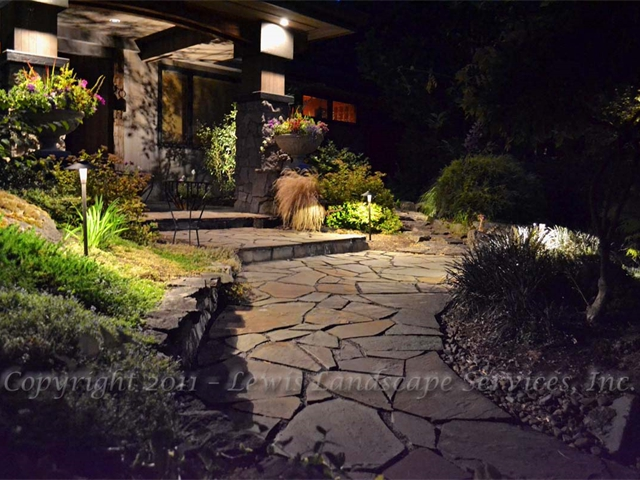 Path Lighting along a pahtway from Project we installed in Portland, OR