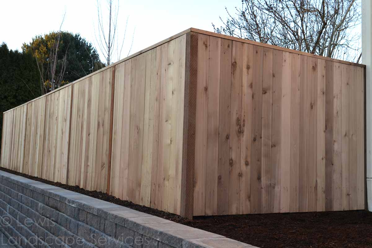 Solid Style Cedar Fence in NW Portland Oregon area - fence installers