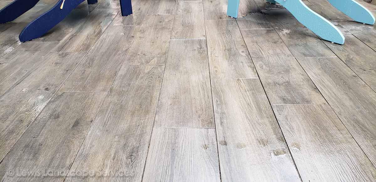 Close-up of Paver Patio w/ Aristokrat© Wood Plank Pavers by Abbotsford