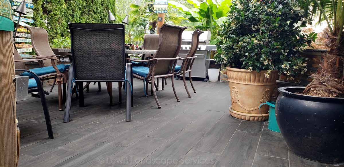Paver Patio w/ Aristokrat© Wood Plank Pavers by Abbotsford