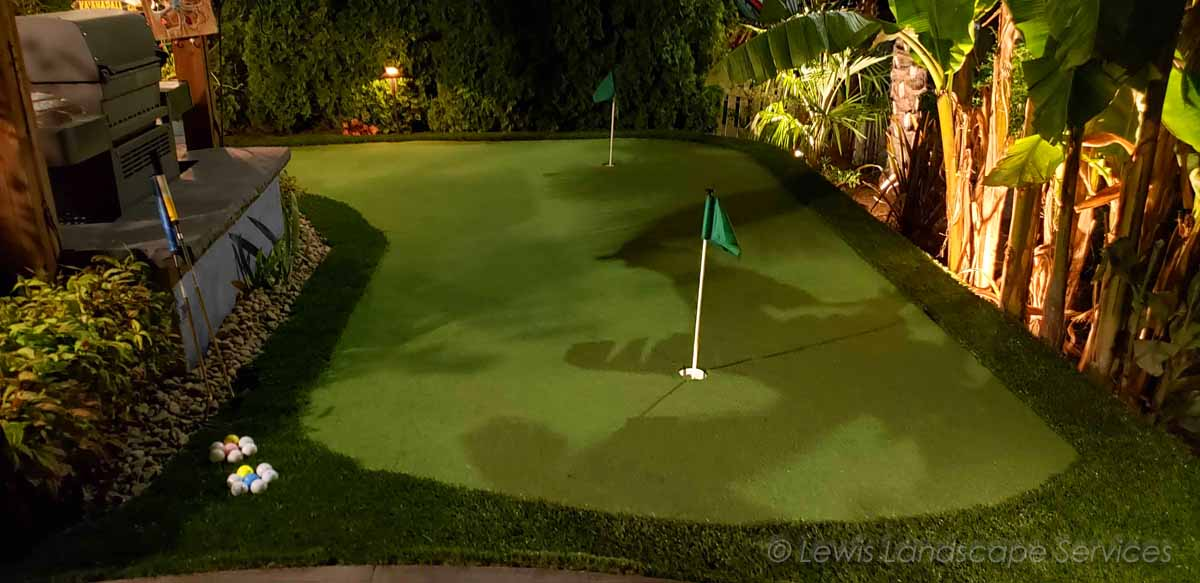 Putting Green at Night Time